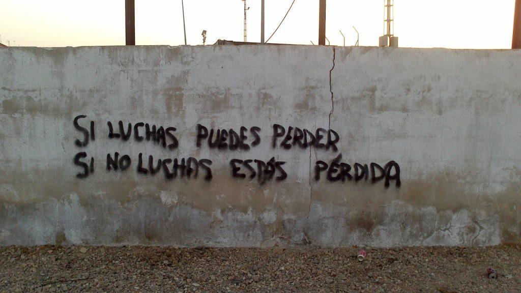 Pintada en un muro de Córdoba: rruano.blogspot.com.es