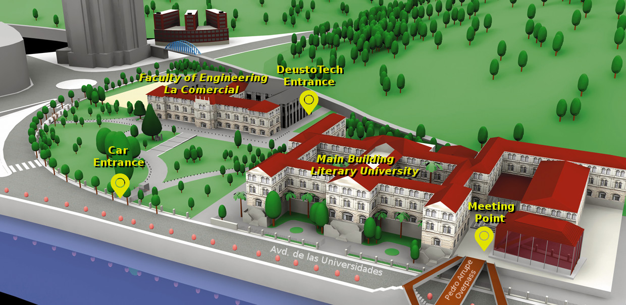 University of Deusto, Bilbao Campus Map